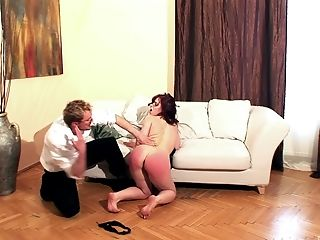 BDSM, Cute, Fetish, Friend, Moaning, Olga Cabaeva, Slap, Spanking,