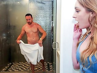 Amazing, Bathroom, Blonde, Blowjob, Cheating, Daughter, Extreme, Gorgeous, Husband, Jerking,