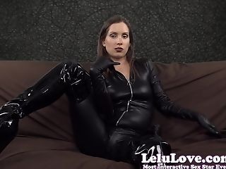 Amateur, Boots, Catsuit, Gloves, HD, Homemade, Leather, Lelu Love, Masturbation,