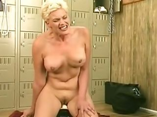 Dildo, MILF, Saggy Tits, Short Haired, Solo, Whore,