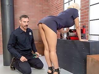 Babe, Big Tits, Blonde, Boots, Cop, Dick, Hardcore, HD, High Heels, Juicy,