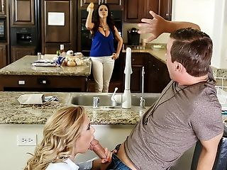 Ariella Ferrera, Big Tits, Blonde, Blowjob, HD, Latina, MILF, POV, Threesome,