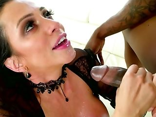 Ariella Ferrera, Big Tits, Blowjob, Bold, Brunette, Deepthroat, Dick, Handjob, Interracial, MILF,