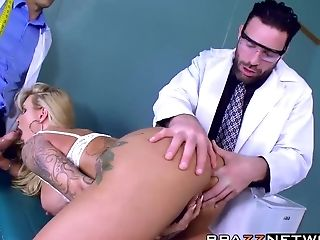 Anal Sex, Blonde, Clinic, Cute, Doctor, Double Penetration, MILF, Ryan Conner, Sexy, Threesome,