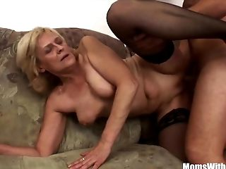 Blonde, Granny, Mature, Old, Shaved Pussy, Stockings,