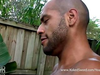 Big Cock, Black, Interracial, Massage, Muscular,