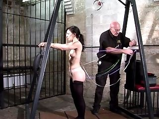BDSM, Bondage, Boobless, Brunette, Caucasian, Couple, Crying, Domination, Elise Graves, Ethnic,