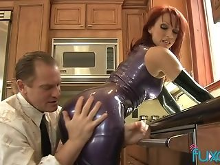 Fetish, Kinky, Kitchen, Latex, MILF, Nikki Hunter, Pornstar,