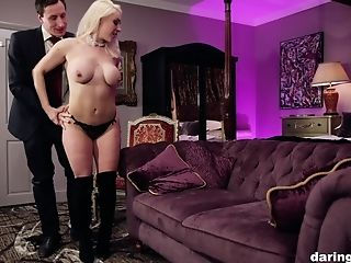 Big Tits, Blonde, Blowjob, Bra, Couple, Doggystyle, Fake Tits, Handjob, Hardcore, Legs,
