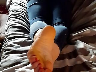 Boobless, British, Close Up, Foot Fetish, Girlfriend, HD, POV, Small Tits,