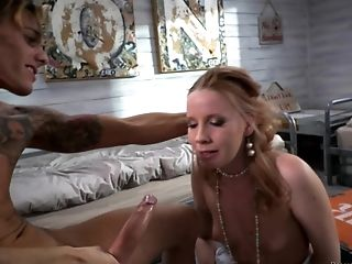 Blonde, Blowjob, Couple, Experienced, Face Fucking, Handjob, Hardcore, Hunk, Nylon, Oral Sex,