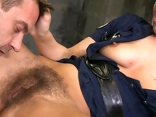 Anal Sex, Babe, Blowjob, Brunette, Cum In Mouth, Dick, Hairy, Rough, Uniform,