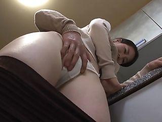 Big Natural Tits, Blowjob, Boobless, Couple, Cum, Cum On Tits, Cumshot, Hardcore, Japanese, Kitchen,