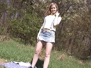 Abigaile Johnson, Blonde, Dildo, Masturbation, Outdoor, Pornstar, Sex Toys,