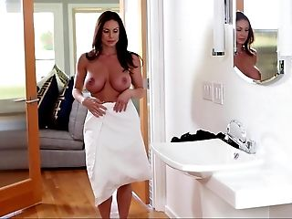Blowjob, Brunette, Dress, Horny, Kendra Lust, Mature, MILF, Pornstar, Undressing, White,