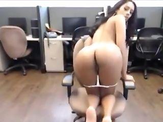 Bra, Cute, Jerking, Latina, Long Hair, Model, Office, Secretary, Solo, Webcam,