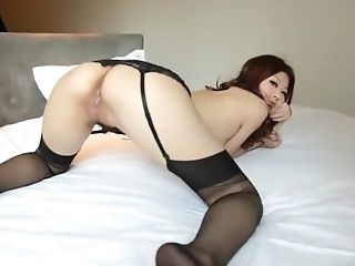 Ass, Babe, Chinese, Ethnic, Lingerie, Model, Solo, Stockings, Young,