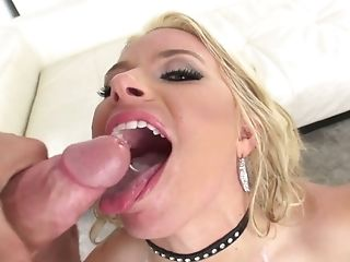 Anal Sex, Anikka Albrite, Ass, Blonde, Blowjob, Boots, Cumshot, Cute, Double Penetration, Facial,