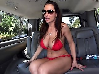 Amazing, American, Big Tits, Bikini, Blowjob, Brunette, Bus, Car, Lisa Ann, Long Hair,