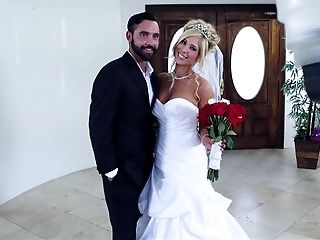 American, Big Tits, Blonde, Blowjob, Bride, Deepthroat, Pornstar, Story, Wedding, White,