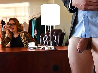 Big Ass, Big Tits, Blonde, Caucasian, Curly, Curvy, Dick, Glasses, Hairy, High Heels,
