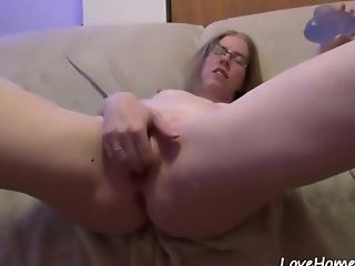 Amateur, Fingering, Glasses, Masturbation, Model, Natural Tits, Pussy, Sex Toys, Shaved Pussy, Solo,
