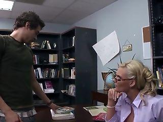 Anal Sex, Big Ass, Big Tits, Blonde, HD, Librarian, MILF, Phoenix Marie,